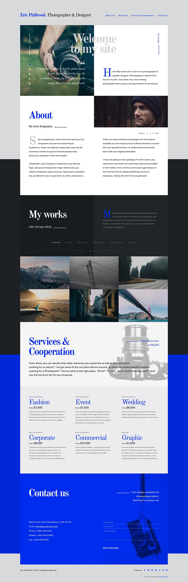 Foliograph for Photographers & Designers Adobe Muse Theme