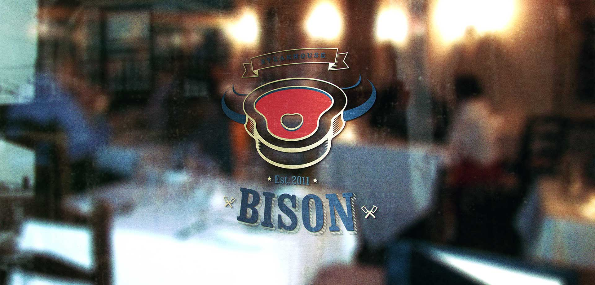 Дизайн сайта и брендинг bison steakhouse